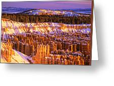 Bryce Canyon Winter Sunrise Greeting Card