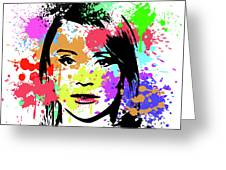 Bryce Dallas Howard Pop Art Greeting Card