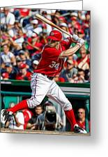 Bryce Harper Washington Nationals Greeting Card