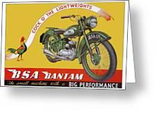Bsa Bantam Motorcycle Greeting Card