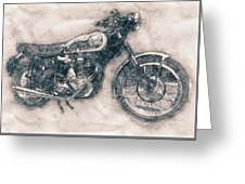 Bsa Gold Star - 1938 - Motorcycle Poster - Automotive Art Greeting Card