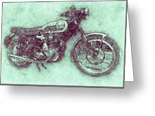 Bsa Gold Star 3 - 1938 - Motorcycle Poster - Automotive Art Greeting Card