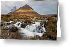 Buachaille Etive Waterfalls Greeting Card