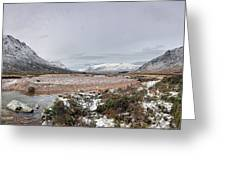 Buachaille Winter Panorama Greeting Card