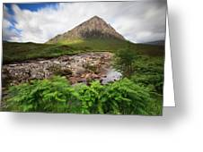 Buachaville Etive Mor Greeting Card