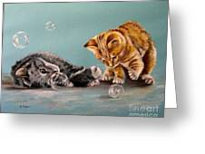 Bubble Cats Greeting Card