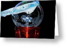 Bubble In A Glass Greeting Card
