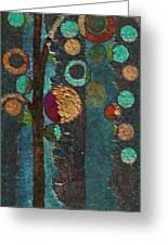 Bubble Tree - Spc02bt05 - Right Greeting Card by Variance Collections