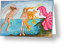 Bubblegum Angel And The Birth Of Venus Greeting Card