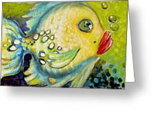 Bubbles Fish Greeting Card