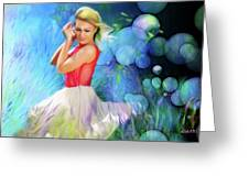 Bubbles In Field Greeting Card