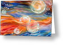 Bubbles In Tumult Greeting Card