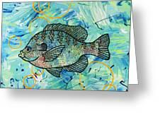 Bubbles 'n Bluegill Greeting Card