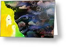 Bubbles Of Life Greeting Card