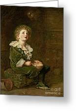 Bubbles Greeting Card by Sir John Everett Millais