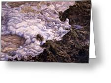 Bubbling Sea Rocks Greeting Card