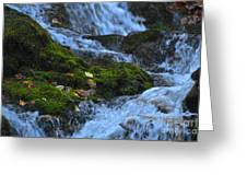 Bubbling Waterfall Greeting Card
