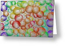 Bubbly Bubbles 2 Greeting Card