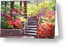 Buchart Garden Stairway Greeting Card