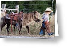 Buckaroo Cowgirl Greeting Card