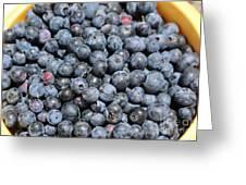Bucket Of Blueberries Greeting Card