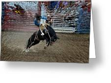 Bucking Bronco Greeting Card