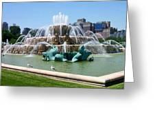 Buckingham Fountain Greeting Card