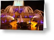 Buckingham Fountain At Night Greeting Card