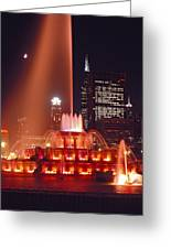 Buckingham Fountain In Chicago 2 Greeting Card