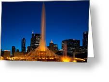 Buckingham Fountain Nightlight Chicago Greeting Card
