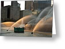 Buckingham Fountain Sidelight  Greeting Card