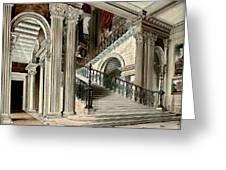 Buckingham House Stair Case Greeting Card
