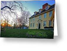 Buckman Tavern At Sunset Greeting Card