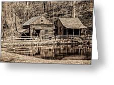 Bucks County - Cuttalossa Mill In Sepia Greeting Card