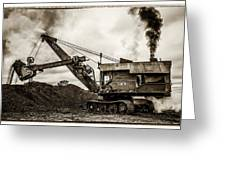 Bucyrus Erie Shovel Greeting Card