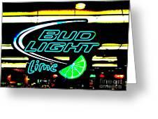 Bud Light Lime Tweeked Greeting Card