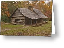 Bud Ogle Cabin Fall  Greeting Card