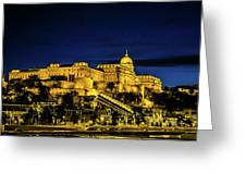 Buda Castle At Night Greeting Card