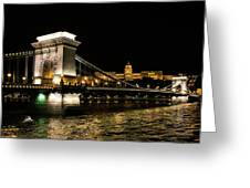 Chain Bridge And  Buda Castle  Greeting Card