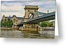 Budapest - Chain Bridge Greeting Card