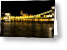 Budapest Bokeh Bridge 2 Greeting Card