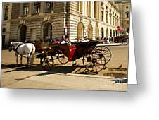 Vienna Buggy Man Greeting Card