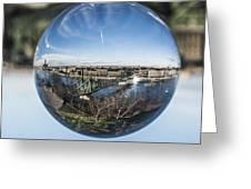 Budapest Globe - Liberty Bridge Greeting Card