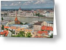 Budapest Overview Greeting Card