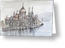 Budapest Parliament Greeting Card