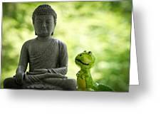 Buddha And Buddy Greeting Card