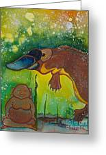 Buddha And The Divine Platypus No. 1375 Greeting Card