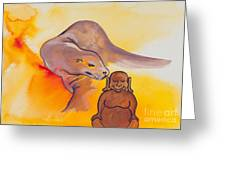 Buddha And The Divine Sea Lion No. 2089 Greeting Card