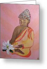 Buddha And The Lotus Blossom Greeting Card