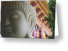 Buddha At Hsi Lai Temple Greeting Card